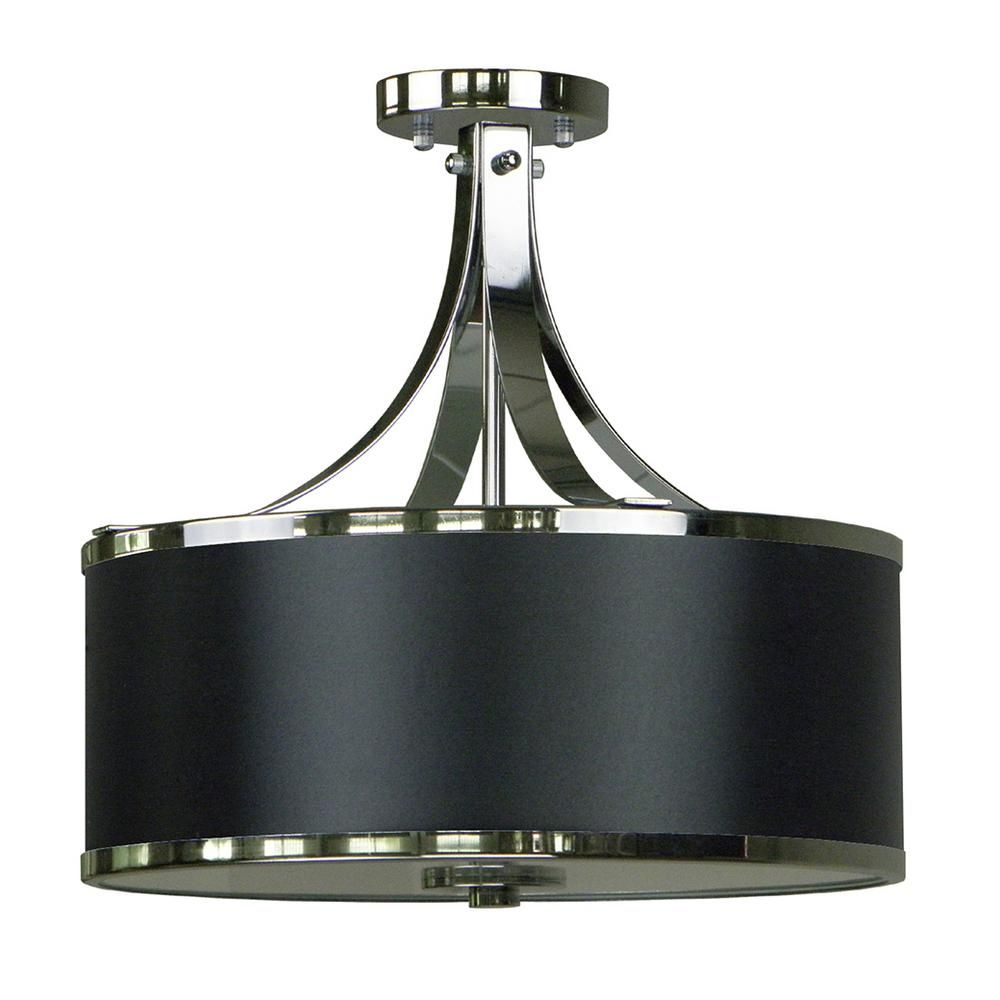 Illumine 3 Light Chrome Semi Flushmount