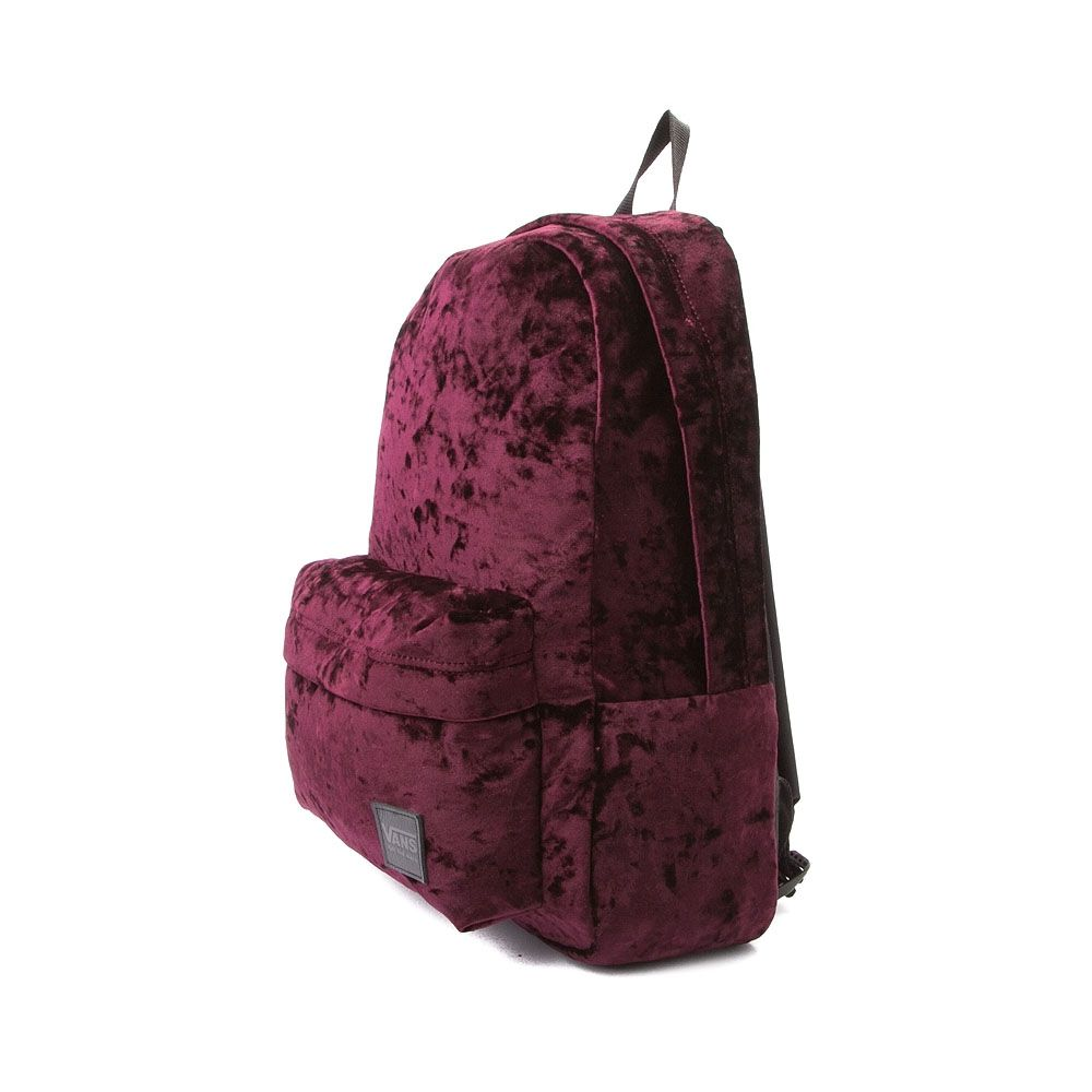 9b902bd8a7 Vans Deanna Crushed Velvet Backpack - Burgundy - 35858