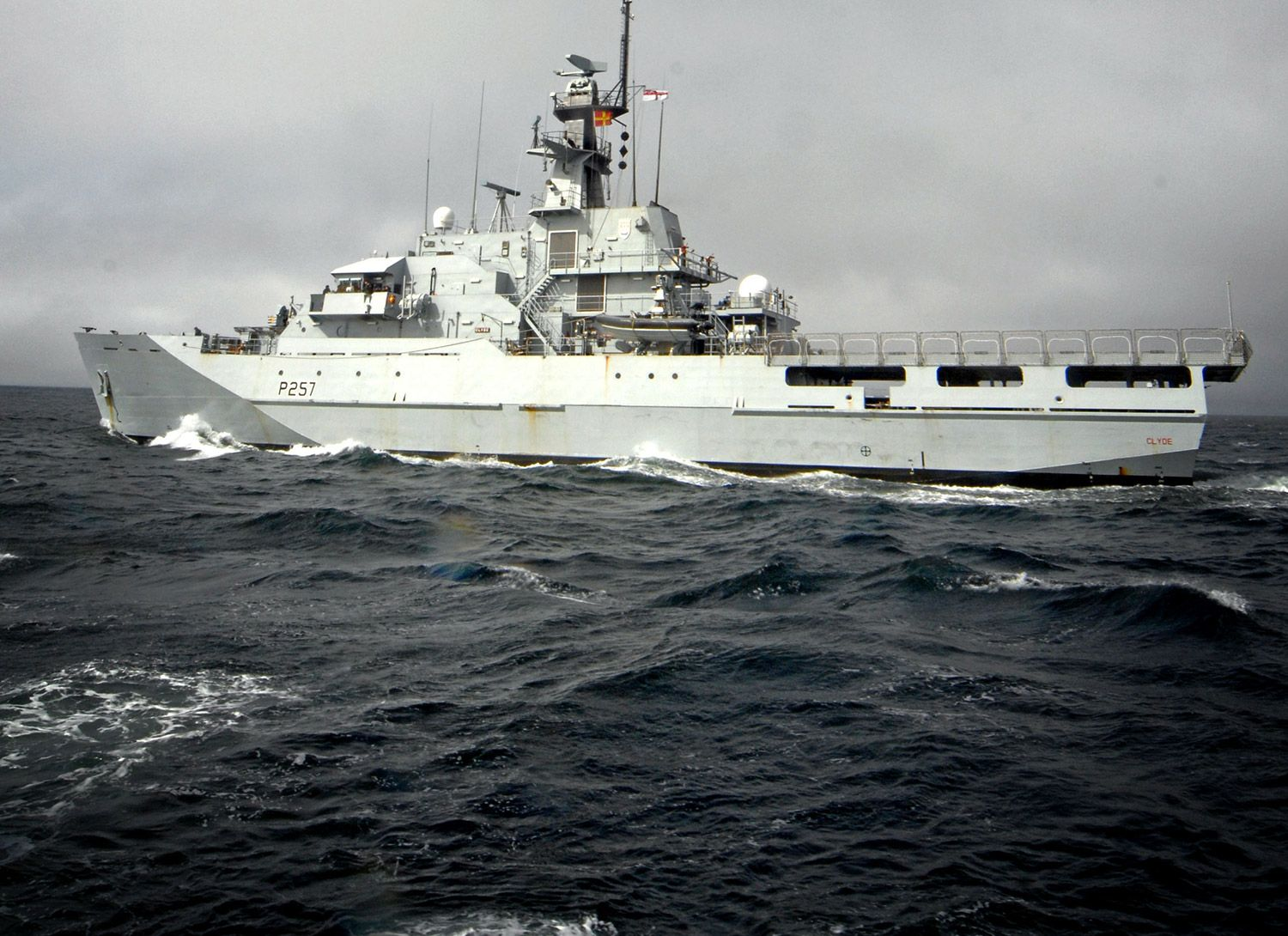 Royal Navy Offshore Patrol Vessels conduct fishery