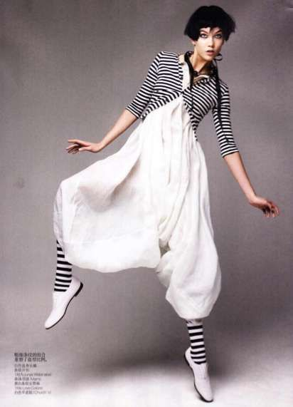 Playful Pantomime Fashion