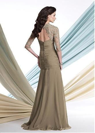 Buy discount Glamorous Tulle & Chiffon Queen Anne Neckline Full-length Mother of the Bride Dress at Dressilyme.com