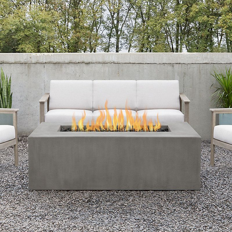 Estes Rectangular Natural Gas Fire Pit Table In 2021 Fire Pit Table Outdoor Fire Table Propane Fire Pit Table