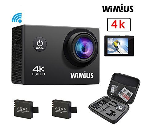 WiMiUS Q1 4K Wifi 131ft Waterproof Sports Action Camera With 16 MP170 Wide Angle 20 LCD Screen21 All In One Kit Set Car Helmet CamcorderSD Card ExcludeBlack >>> Be sure to check out this awesome product.Note:It is affiliate link to Amazon.