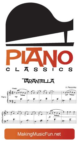 Tarantella By Composer Albert Emil Theodor Pieczonka Print