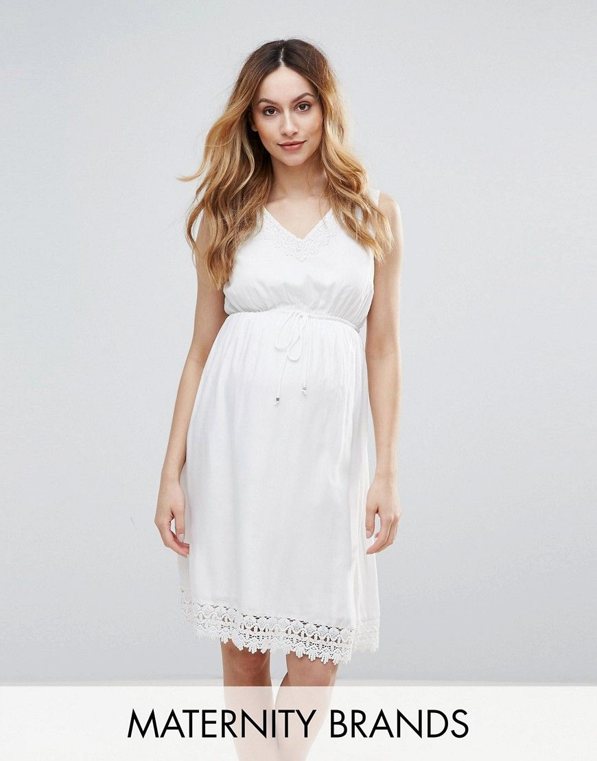Get this mamaciouss knitted dress now click for more details mamalicious woven skater dress with crochet trim white maternity dress by mamacious lightweight woven fabric v neck crochet trims ombrellifo Image collections