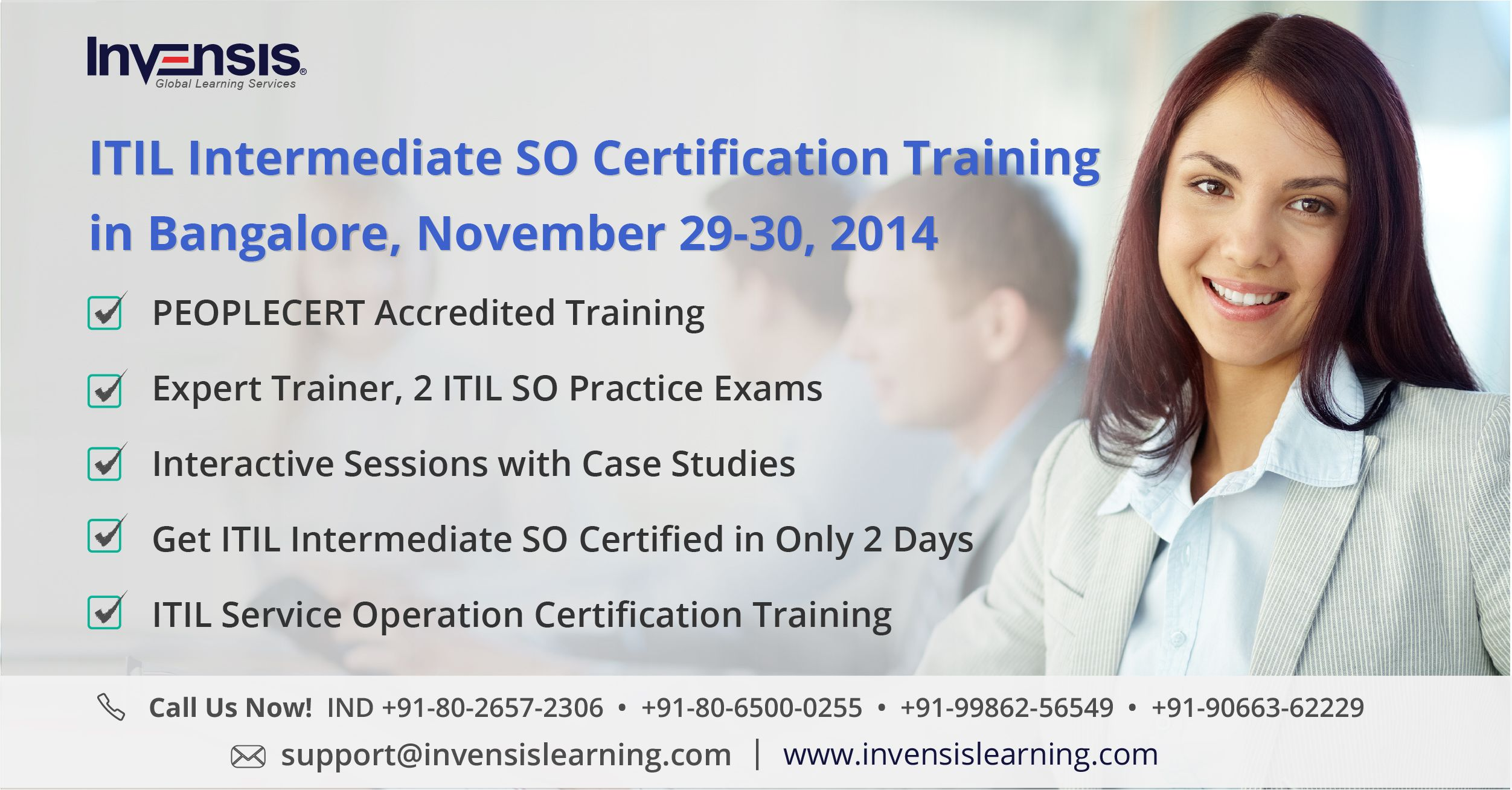 Itil Intermediate Service Operation Certification Training In