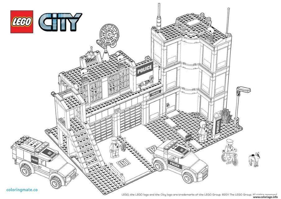 Coloriage De Lego City Lego Coloring Pages Lego Coloring Lego Police