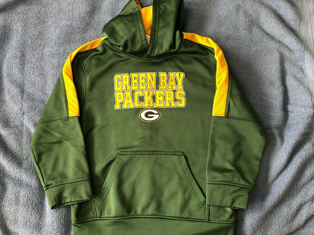 check out 71bfe 5d17f Youth NFL Green Bay Packers Hoodie Pullover Sweatshirt Size ...
