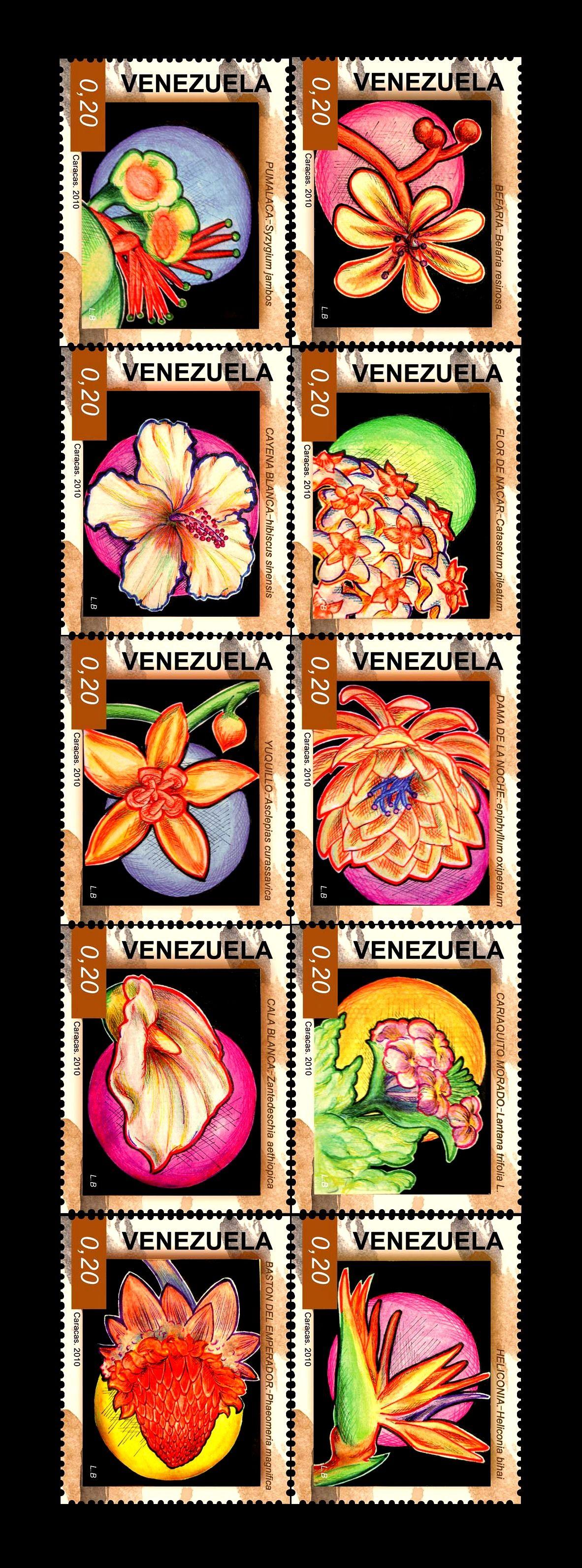 """Estampillas Flores típicas de Venezuela! CON PERMISO, LO COMPARTO EN MI TABLERO: """"LIBROS, POEMAS Y LETRAS DE CANCIONES DE JESÚS TORTOZA ACEVEDO"""". ¡CORDIAL SALUDO DESDE VALENCIA, EDO. CARABOBO..!"""