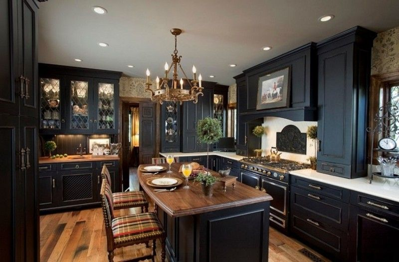 Kitchen Amazing Black Cabinet