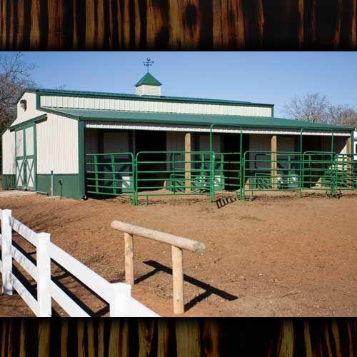 Barn Kits Pole Barns Horse Barns.. But With Wood Instead
