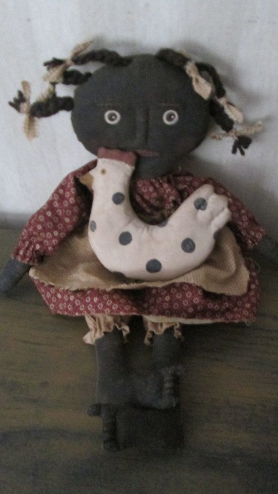 Black Doll with Chicken by Bettesbabies on Etsy, $54.00
