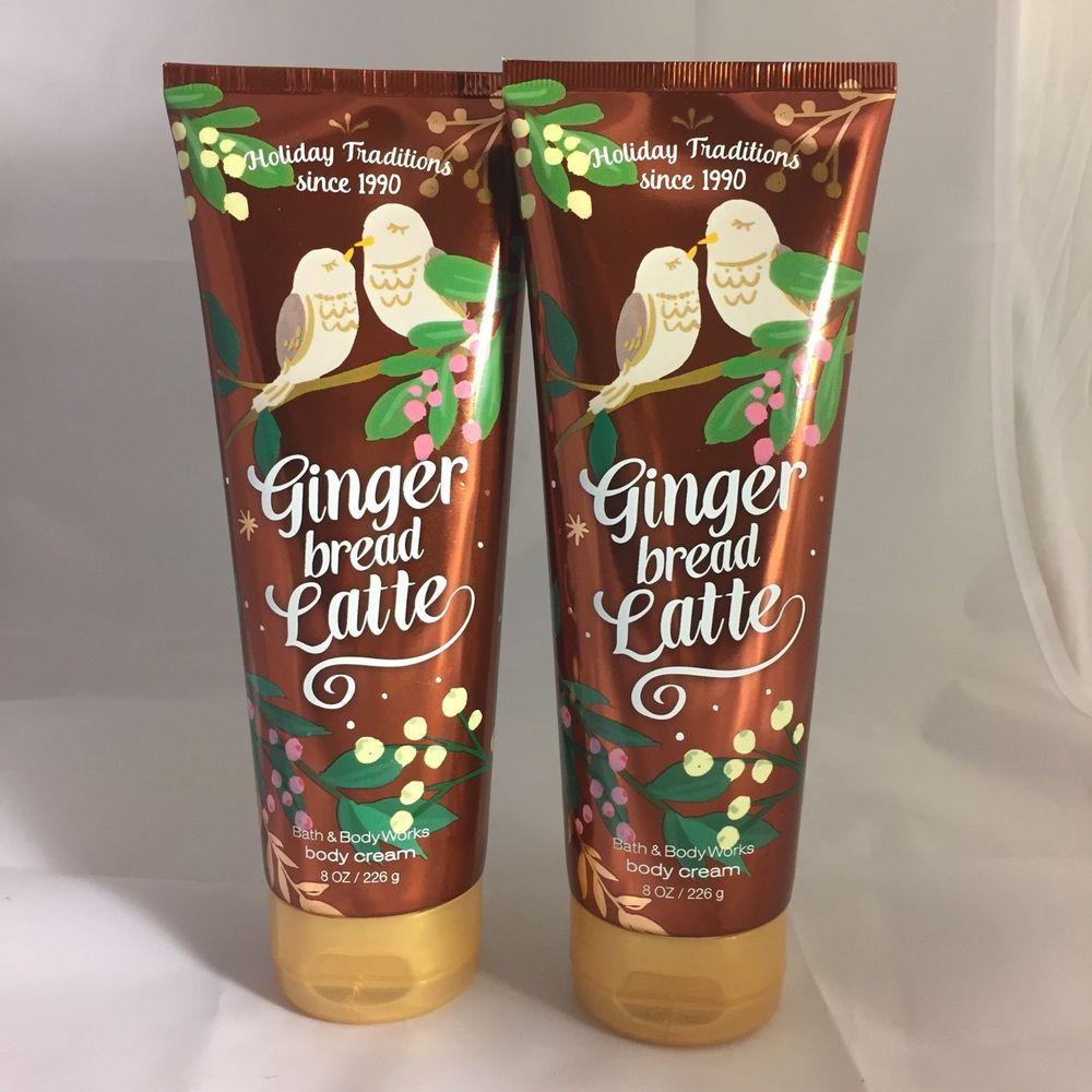 BATH & BODY WORKS Gingerbread Latte Body Creams X2 NEW