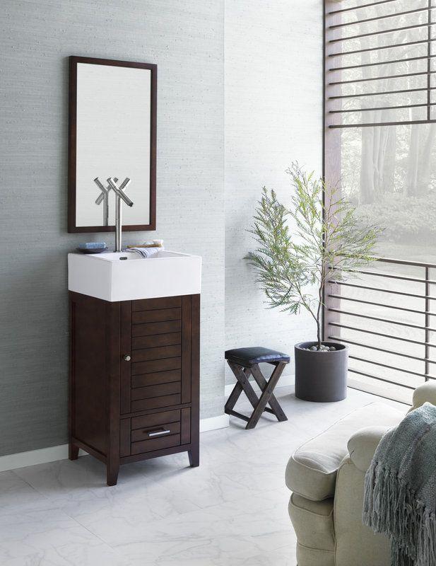 """Ronbow Elise 18"""" Wood Robow Vanities Sold At Decors R Us 144 East New Bathroom Vanities Nj Inspiration Design"""