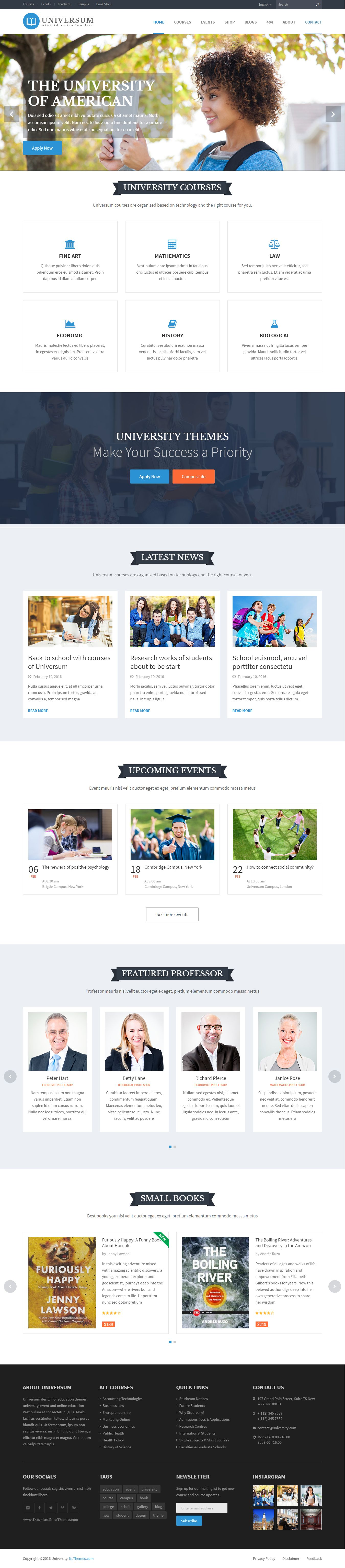 Universum  Education Training Event Book Store Html Template