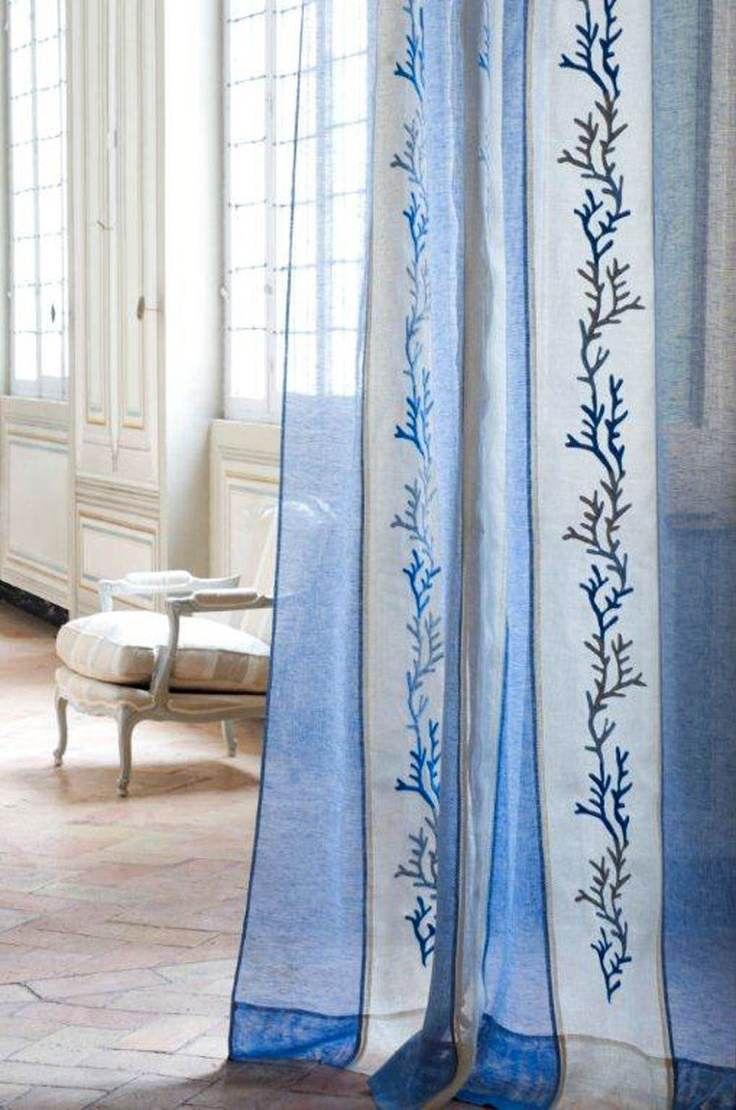 Rideaux design sur le th me marin de la collection - Rideaux style marin ...