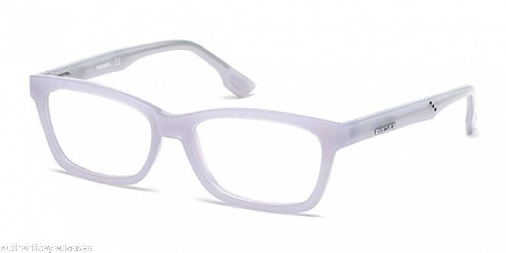 Diesel DL5063 021 Wayfarer Style Eyeglasses Translucent White ...