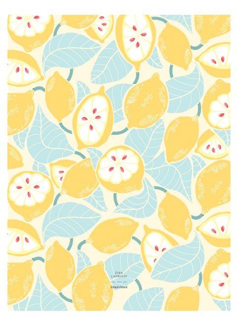 l affiche citrons allover zina lahrichi x émoi émoi emoi emoi