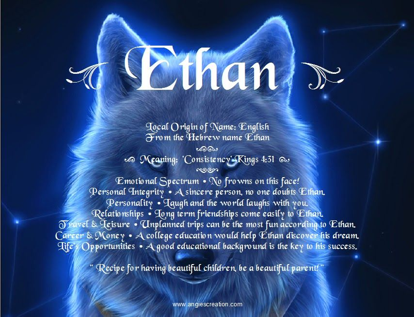 Ethan   Angies Creation   Names with meaning, Creative ...