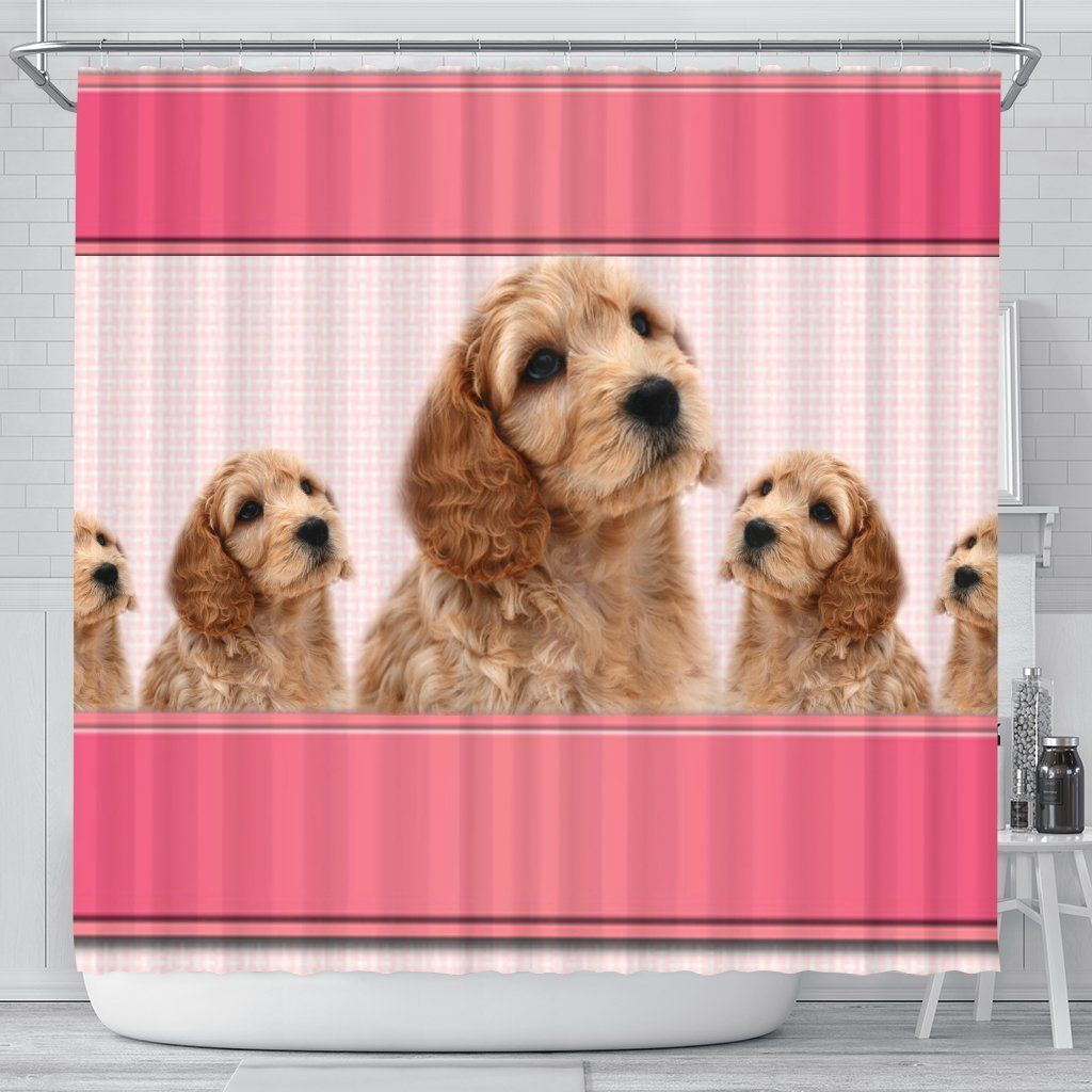 Cockapoo Dog Print Shower Curtain Free Shipping Jjr Daily