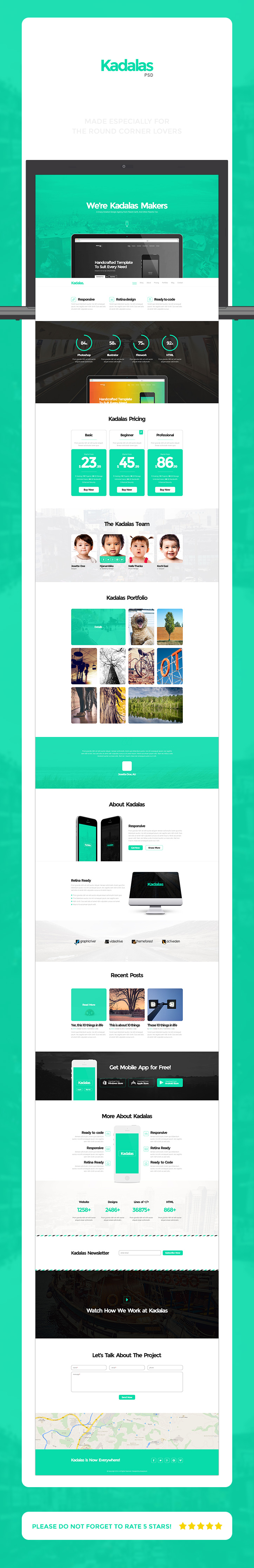 kadalas - psd | website themes and behance, Presentation templates