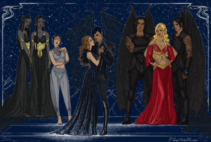 Phantomrin On A Court Of Mist And Fury Feyre And Rhysand A