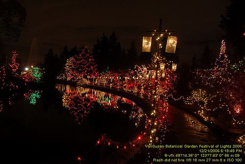 VanDusen Botanical Gardens, Canada Lights, Camera, CHRISTMAS
