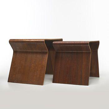 Lot 355: Grete Jalk. Nesting Tables, Pair. 1963, Teak Plywood.