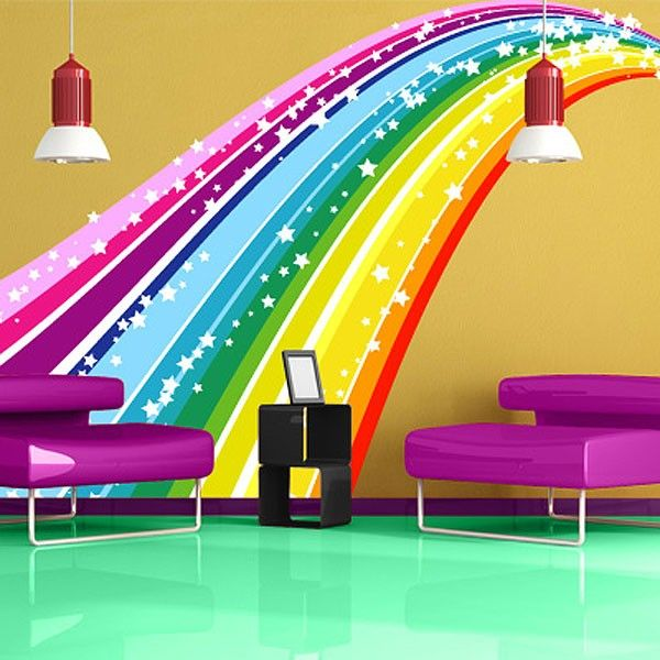 rainbow stickers for walls