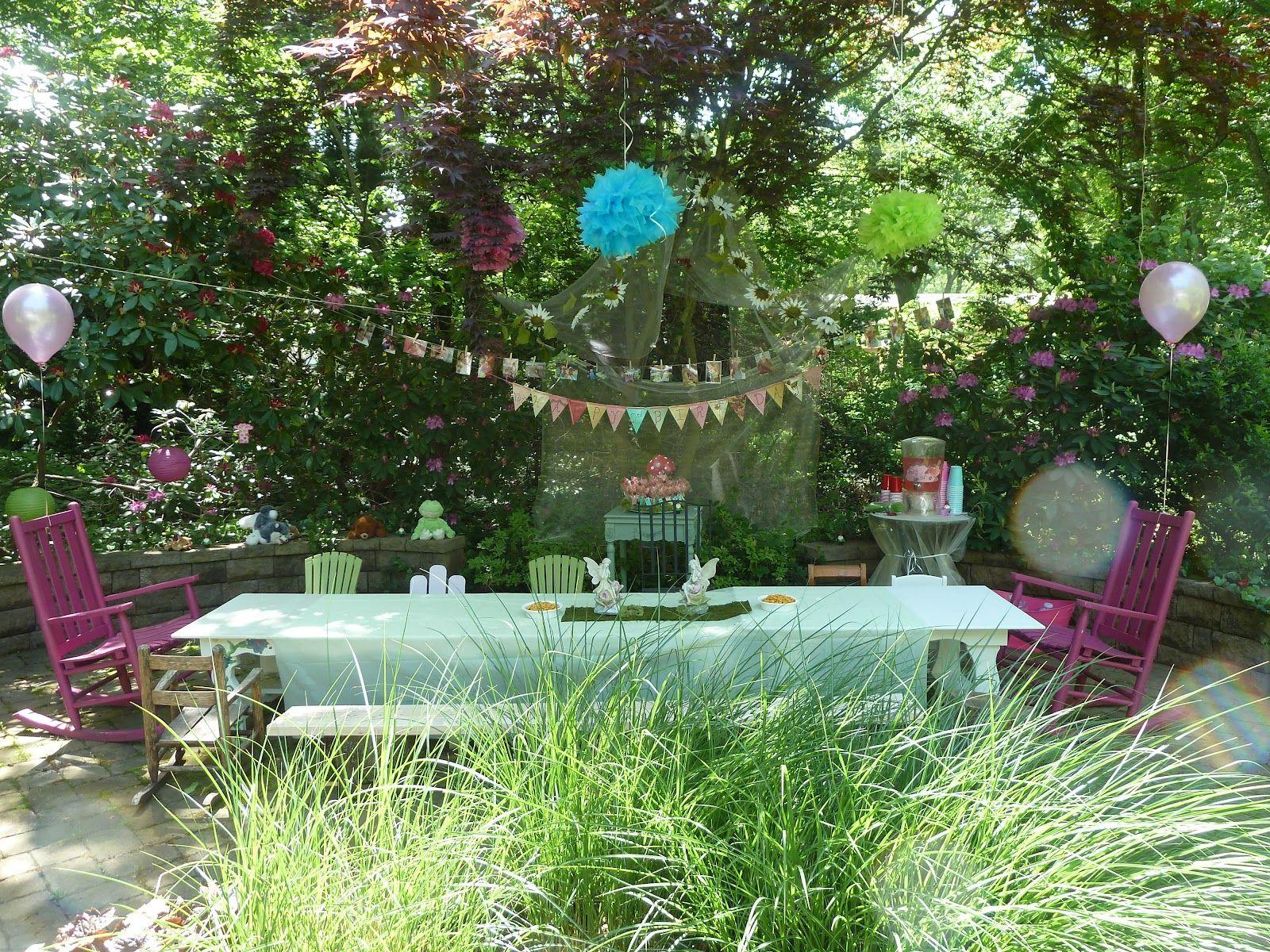 Afternoon tea Enchanted garden, Garden birthday, Magical