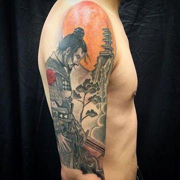 Singulares E Historicos Tatuajes De Samurai En El Brazo Tatuajes