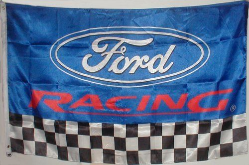 FORD Flag 3' X 5' Banner RC by NA. $20.95. Made of polyester for endurance and brilliance. Measures 3 feet by 5 feet. Two brass grommets for flagpole attachment. Produced with the highest standards. Brilliant crisp graphics. Luxurious soft silky look & feel. Makes a Great Gift! Flags are perfect for: garages, car collectors, auto and motorcycle dealers, track events, club racing, drag strips, race tracks, pits and paddock, drifting events, car shows, swap meets and mo...