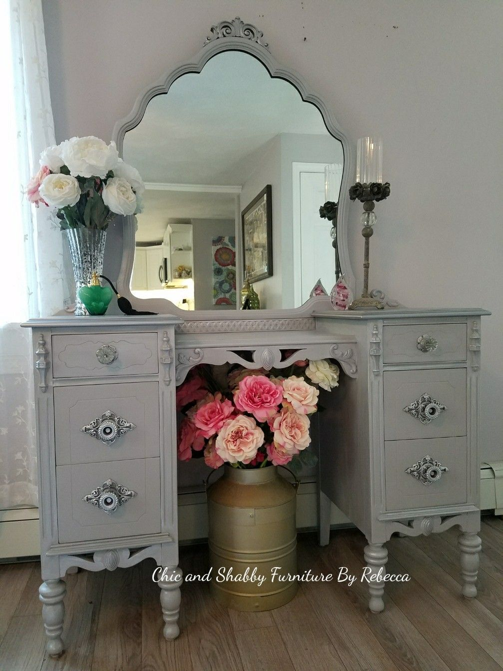 Pin On Vintage Vanities Mirrors And Chairs