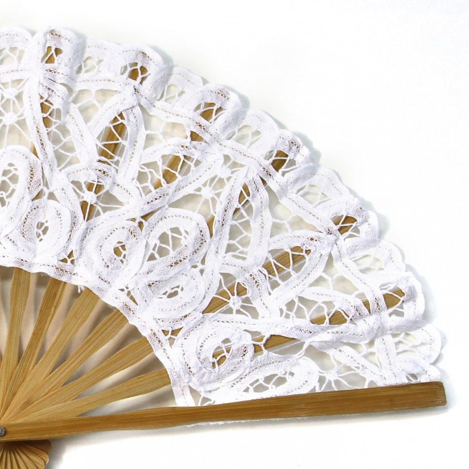 Antique Victorian Lace Hand Fan - White [404838] : Wholesale Wedding ...