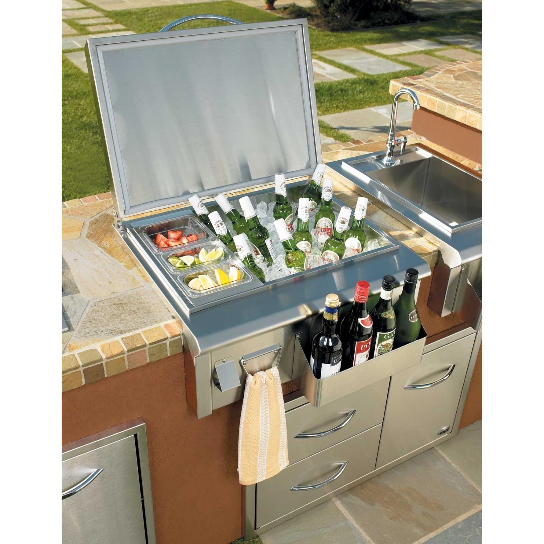 Outdoor Kitchen Ice Bin Video And Photos Outdoor Kitchen Design Layout Outdoor Kitchen Design Outdoor Kitchen Bars