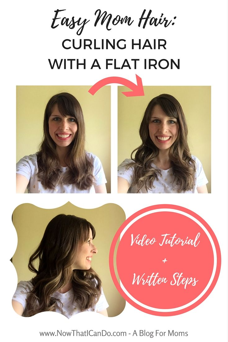 Easy mom hair curling hair with a flat iron video steps bath