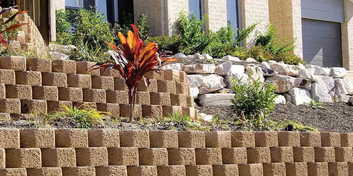 National Masonry Concrete Blocks Bricks Concrete Pavers Retaining Walls National Masonry Cinder Block Garden Wall Concrete Pavers Wall Gardens Diy
