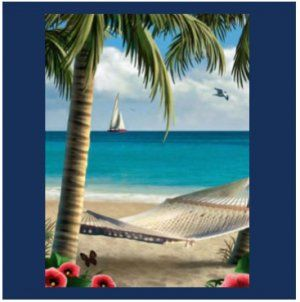 Beautiful Beach Scene Shower Curtain Give Your Bath A Spa Look