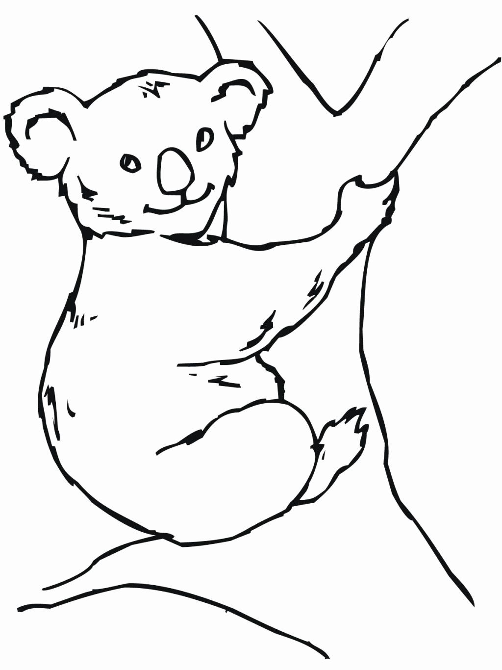 Koala Bear Coloring Page Luxury Free Printable Koala Coloring