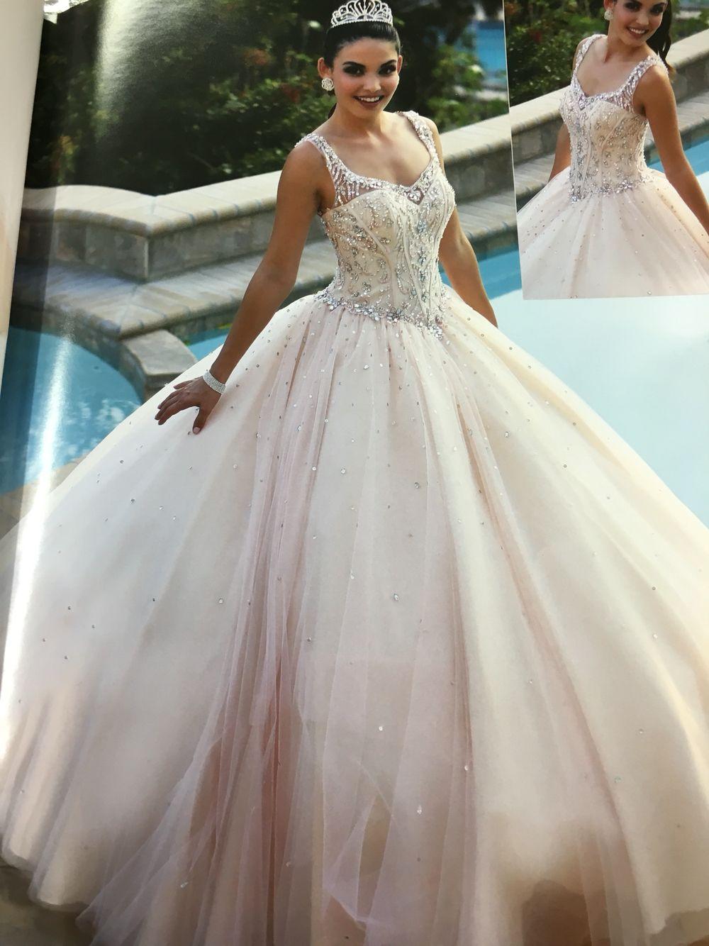 aa88031500 My) vintage  blush pink quinceañera dress !!