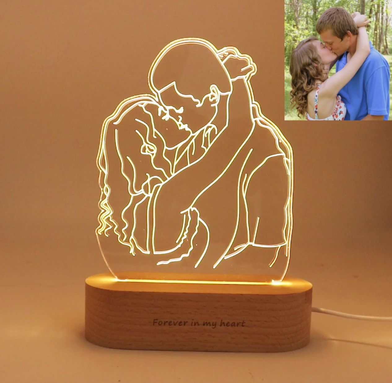 Custom Personalized Photo Transformed Into Your Very Own Neon 3d Lamp With Your Face On It Boyfriend Anniversary Gifts Photo Lamp Boyfriend Gifts