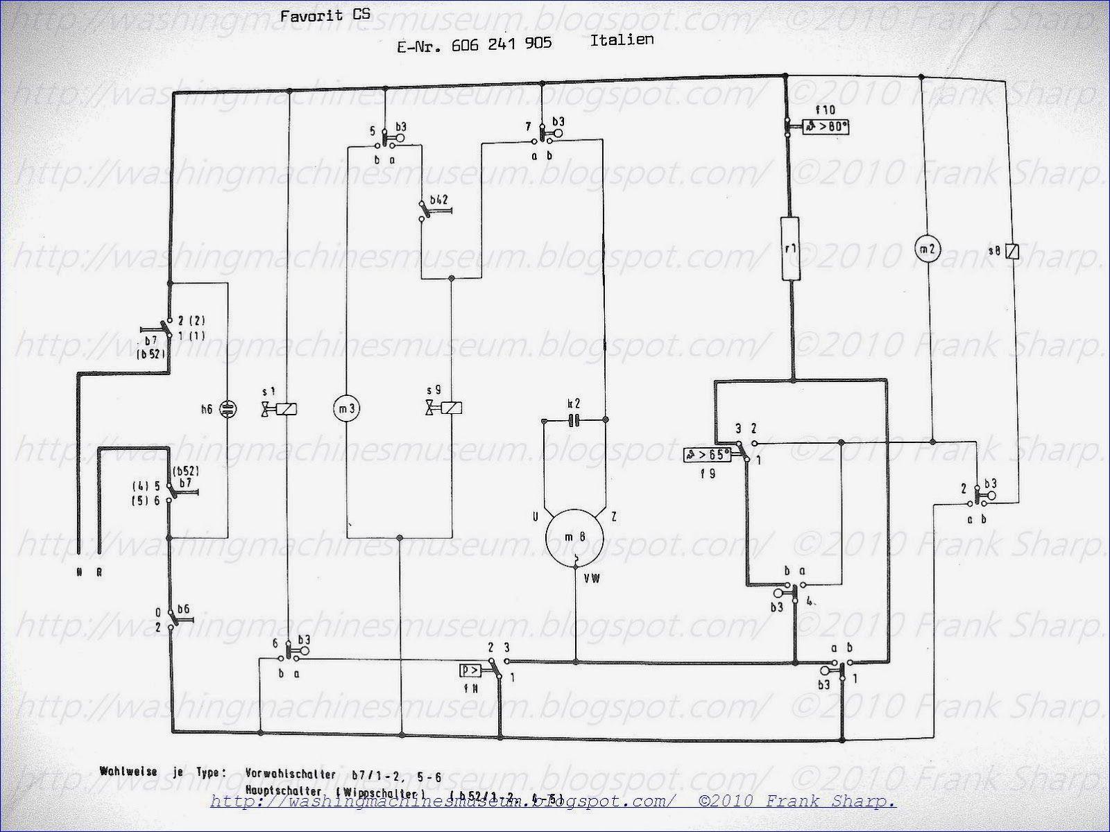 Wiring Diagram Of Washing Machine Motor