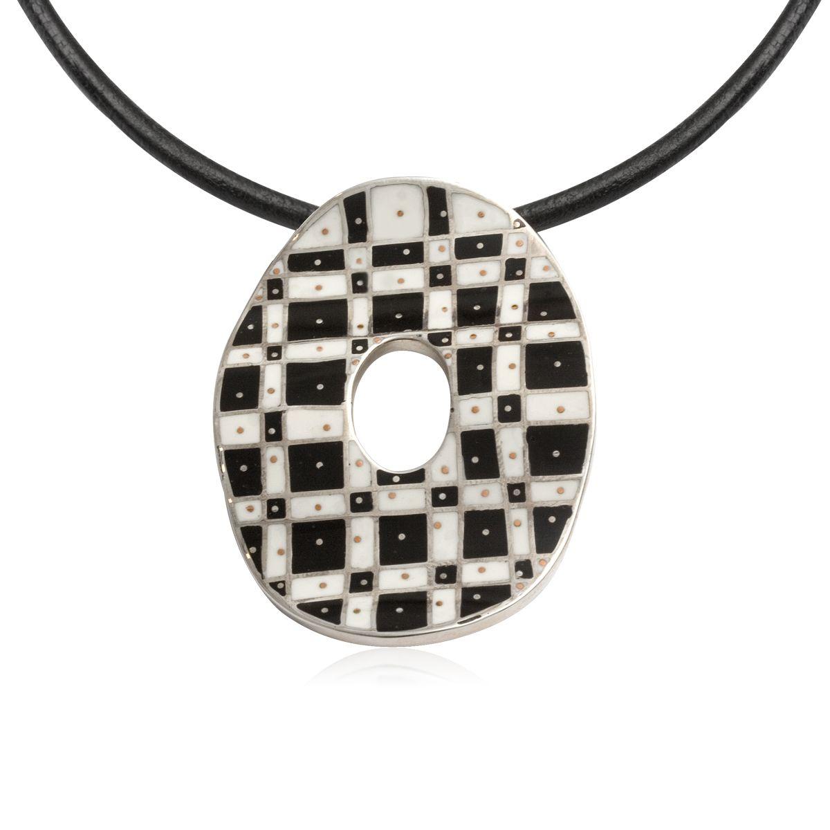 Grzegorz Błażko - polish designer jewelery, neckles, silver, enamel, handmade.    www.galeriayes.pl  @galeriayes