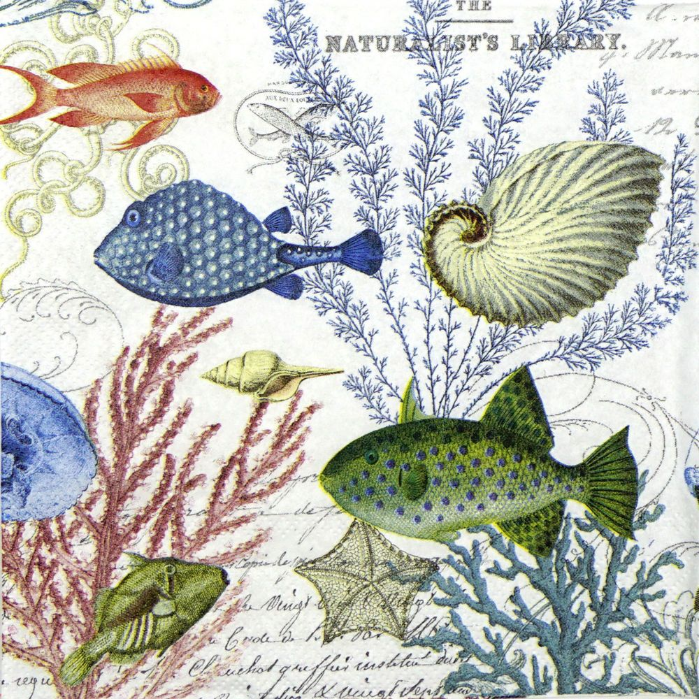 Decoupage for Party 4x Paper Napkins Under the Sea