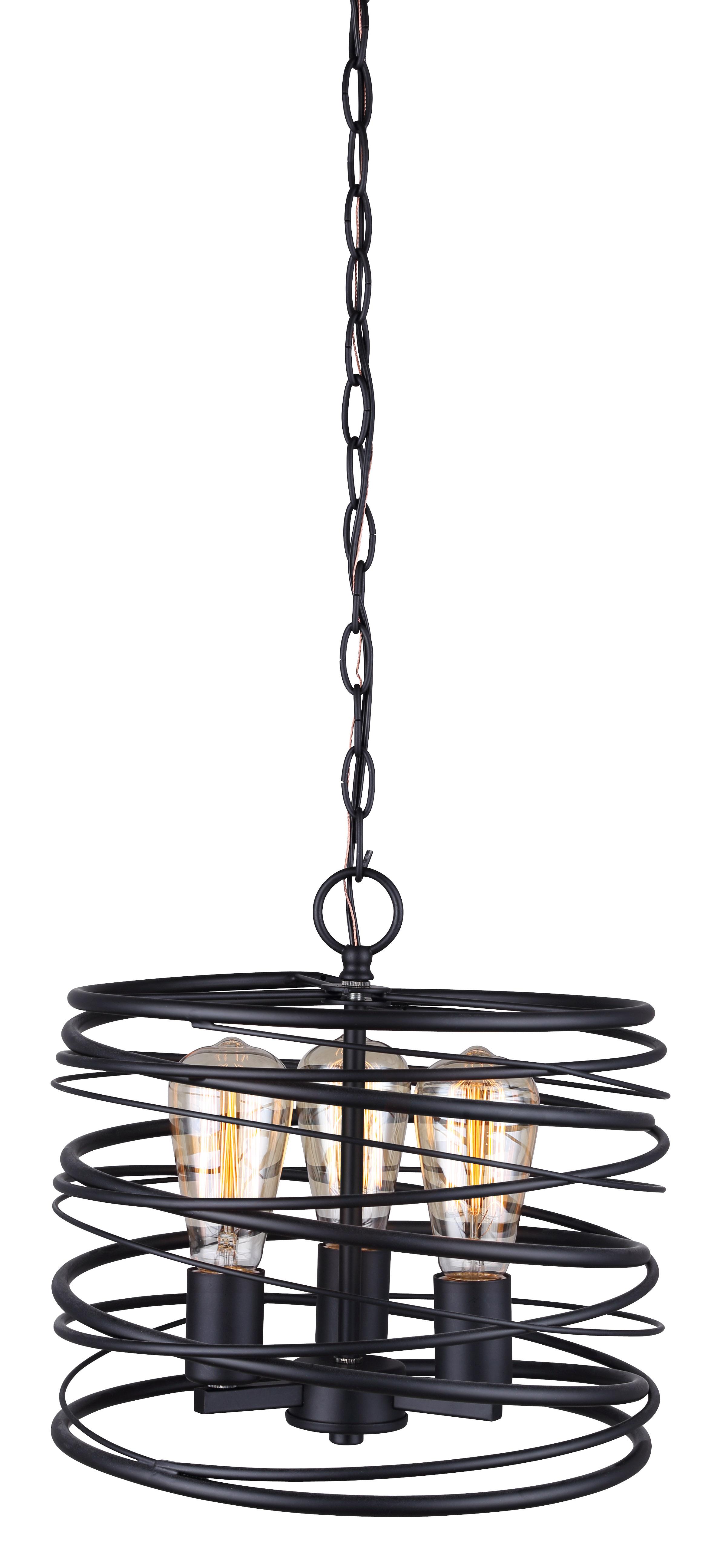 Canarm Ipl411b03bk12 Ryland 3 Light Pendant Black Light Chain 3 Light Pendant Pendant Lighting
