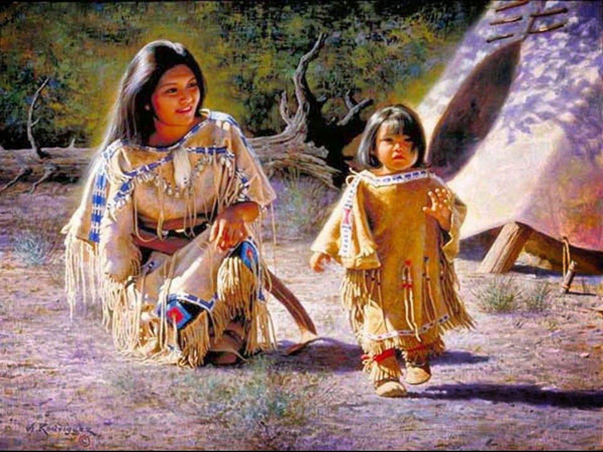 pintura o fotografia indios americanos antiguos - Buscar ...