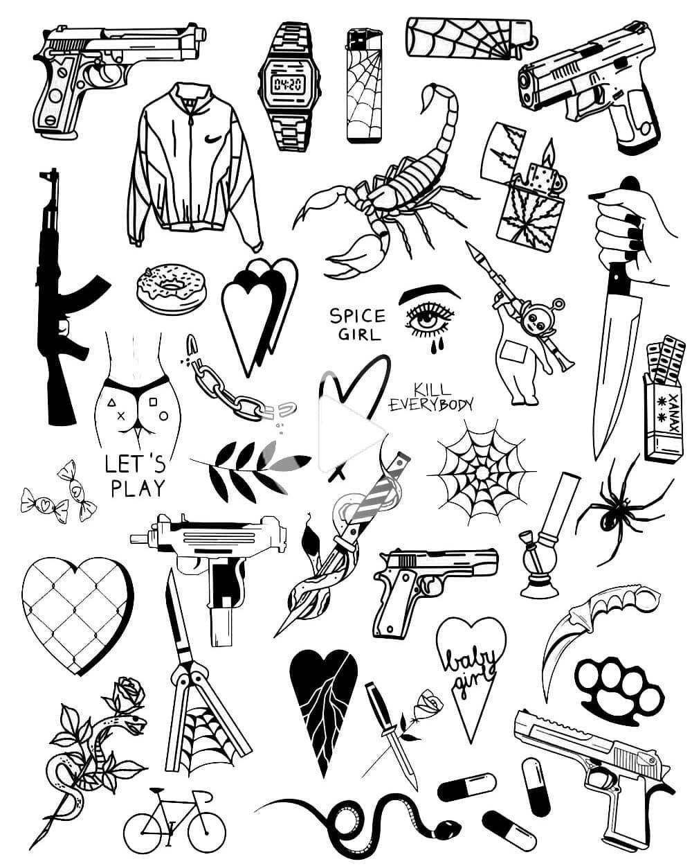 """Photo of Sketch Tattoo und Art🔥 op Instagram: """"@ktofsuko 💀…… # Tattoo # miscue #tattogirl #"""