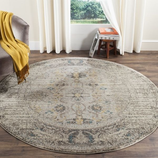 Safavieh Monaco Grey Multi 6 Foot Round Rug 7 X