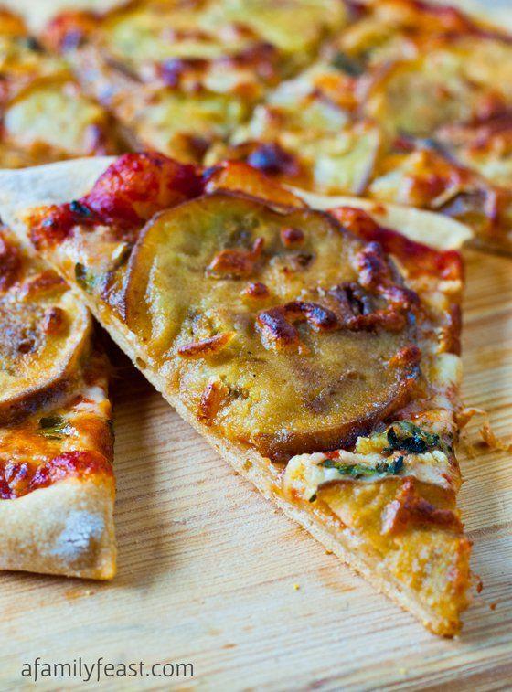Eggplant and Garlic Pizza