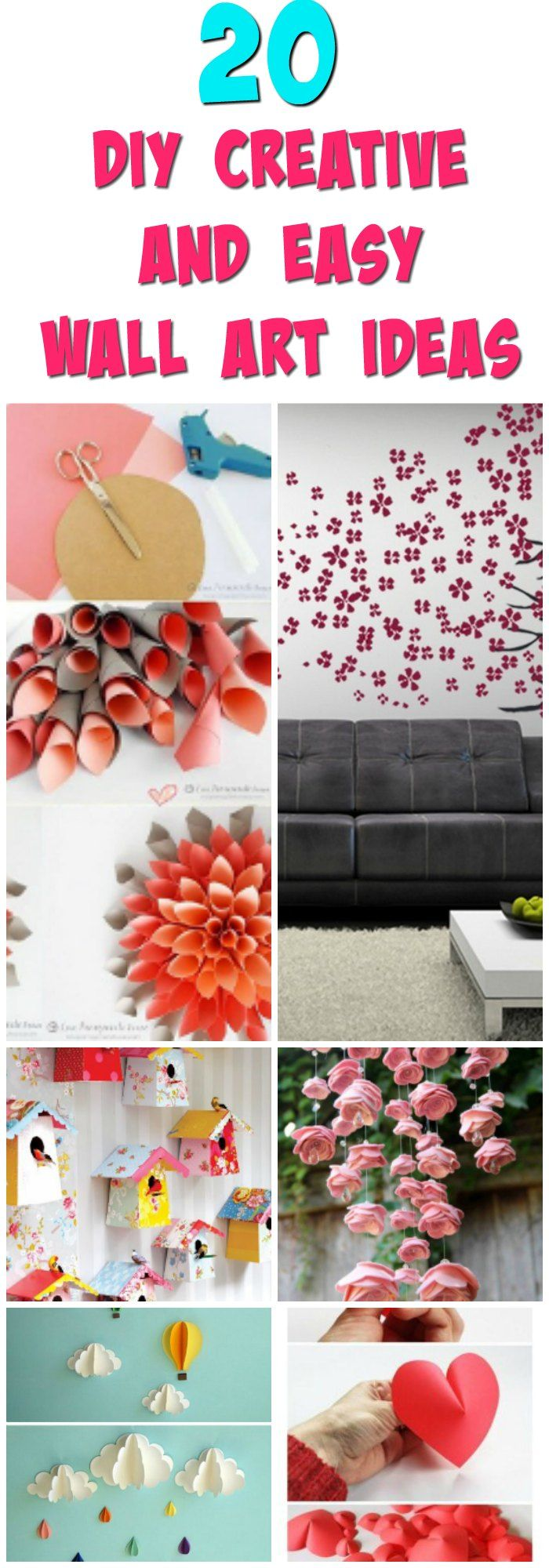 easy and creative diy wall art projects creative walls and diy